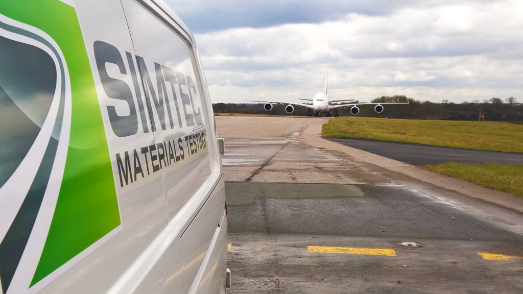 Simtec Materials Testing Airport work